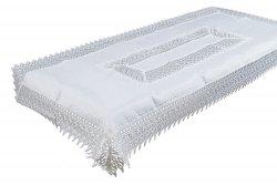 Obrus gipiurowy rozmiar 90x160 wzór biały (144)
