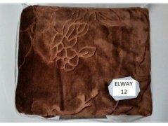 Koc akrylowy Elway, 160x210 z narzutami na fotele 70x160 wz. Elway 12