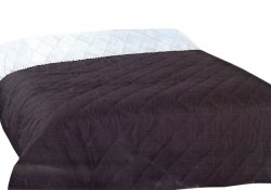 Narzuta dwustronna jednobarwna Ben 210x240 - kolor Czarna