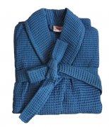 Szlafrok WAFFLE rozmiar XXL kolor - niebieski
