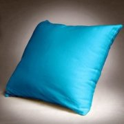 Poszewka na poduszkę 50x60 - 100% bawełna satynowa, zapięcie na zamek kolor turkus 010