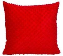 Poszewka MINKY rozmiar 40x40 wz. 07 czerwony