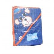 Okrycie kąpielowe 80x80 - Rożek Niebieski Niedźwiedź