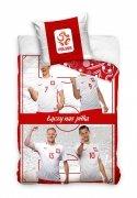Pościel sportowa licencyjna 100% bawełna 160x200 - Polscy piłkarze