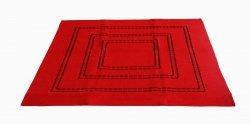 Obrus Haftowany Bruna 59-R 85x85 cm kolor: czerwony
