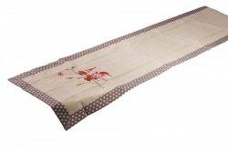 Świąteczny obrus haftowany NIKO rozmiar 50x100 wzór 2491