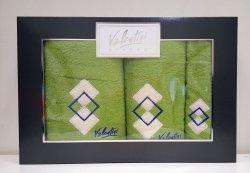 Komplet ręczników 3 częściowy Valentini Bianco wz 01 kolor zielony