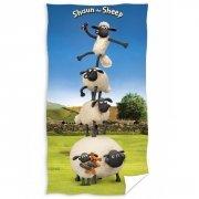 Ręcznik licencyjny - Baranek Shaun - rozmiar 70x140 wz. BS3008