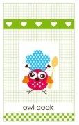 Ścierka kuchenna 45x75 100% bawełna wz. Owl cook