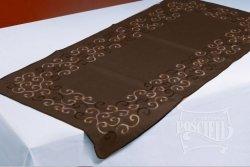 Obrus Haftowany Bruna 130x180 cm kolor: Brazowy