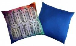 Poduszka matematyczna 40x40 wz. 01/niebieski
