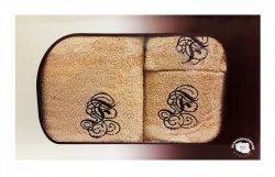 Trzyczęściowy komplet ręczników 70x140, 50x90 oraz 30x50 w pudełku 100% bawełna - wz. 3SNU-05