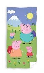 Ręcznik licencyjny - Świnka Peppa - rozmiar 70x140 wz. pp195004