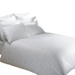 Poszewka hotelowa ADAMASZEK na poduszkę 40x40 (na zamek) - pasek 1 cm