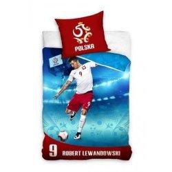 Pościel sportowa licencyjna 100% bawełna 160x200 lub 140x200 - Robert Lewandowski - wz. PZPN162001