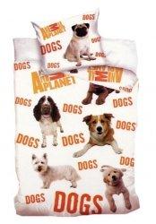 Pościel licencyjna Animal Planet 100% bawełna 160x200 lub 140x200 - Dogs 8014