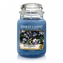 Świeca Yankee Candle Blueberry - duży słoik