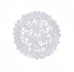 Wiosenny Obrus Haftowany wz. SUP 20cm koło Kolor: biały