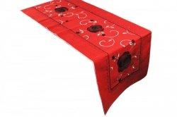 Obrus FLAMENCO 9805-1 50x100 haftowany, kolor: czerwony