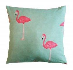 Poszewka na jasiek wz. Flamingi 03 - rozmiar 40x40 100% bawełna