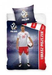 Pościel sportowa licencyjna 100% bawełna 160x200 lub 140x200 - Łukasz Piszczek wz. PZPN171030