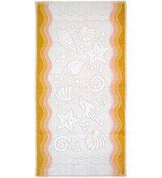Ręcznik FLORA OCEAN 70x140 kolor żółty