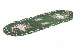 Obrus Świąteczny Boże Narodzenie wz. 271,  35x70 cm zielony
