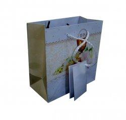 Ozdobne opakowanie, torebka na prezent 26x32 wz. Komunia Krem