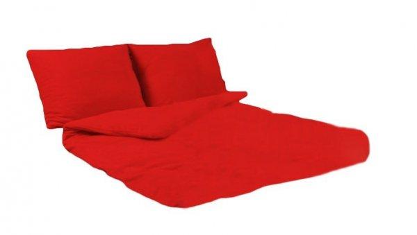 Pościel POLAROWA 160x200 , super miękki polar wz. czerwony