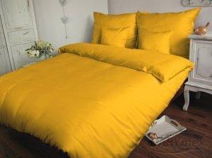 Poszewka na poduszkę 50x60 - 100% bawełna satynowa, zapięcie na zamek kolor żółtko 004