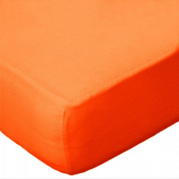 Prześcieradło jersey 140x200 z gumkę wz.D035 ( pomarańczowy)