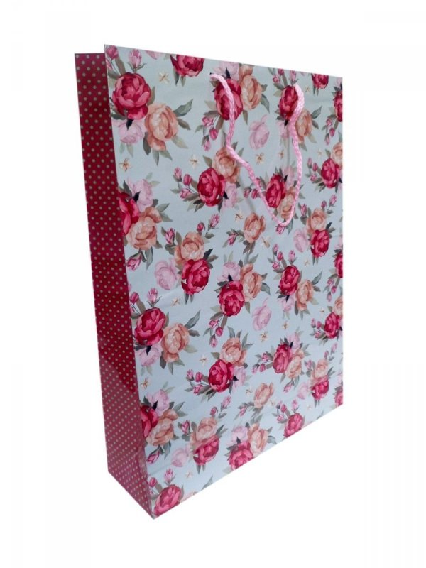 Ozdobne opakowanie, torebka na prezent 12x14cm wz. Flower 008
