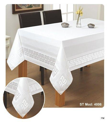 Obrus teflonowy rozmiar 70x150 wzór biały (190)