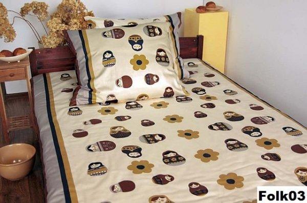 Poszewki na poduszki 70x80 - bawełna andropol wz. Folk03