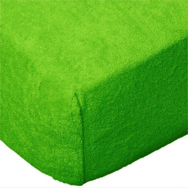 Grube Prześcieradło FROTTE 160x200 na gumkę wz. K21 zielony