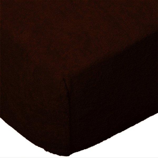 Grube Prześcieradło FROTTE 180x200 na gumkę wz. 030 czekoladowy 2