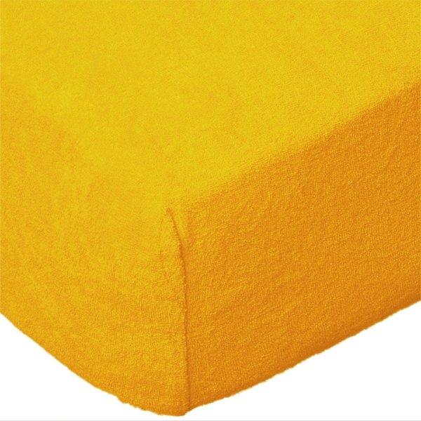 Grube Prześcieradło FROTTE 120x200 na gumkę wz. 004 żółty