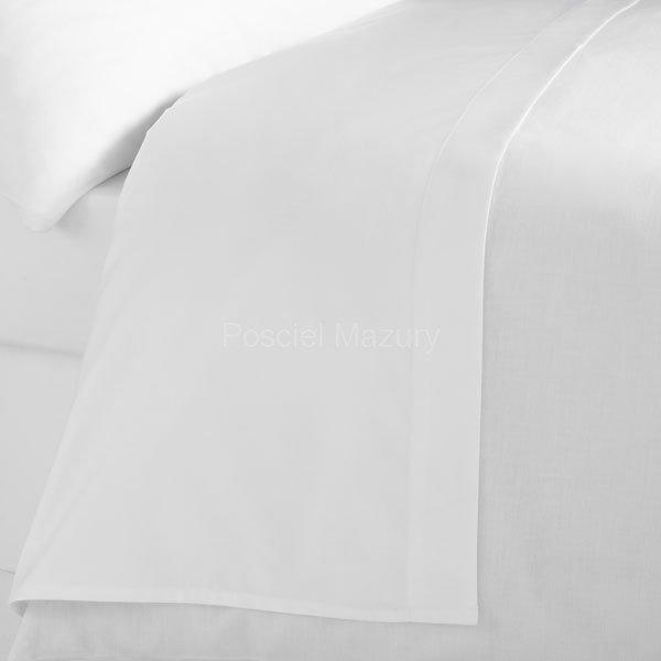 Prześcieradło białe hotelowe, hotel 160x280