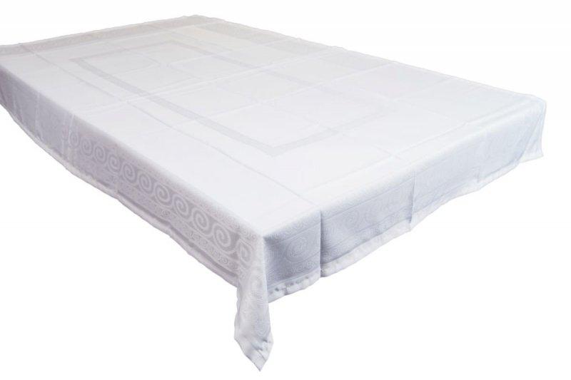 Obrus teflonowy bello rozmiar 140x220 wzór biały (253)