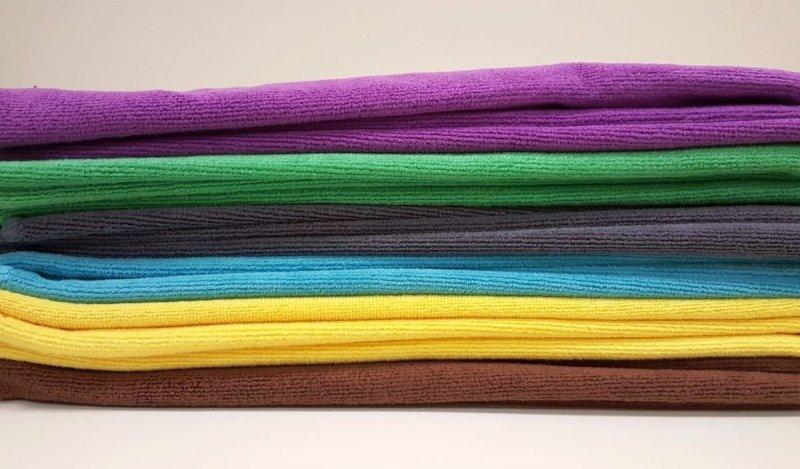 Ręcznik szybkoschnący 30x30 mikrofibra żółty