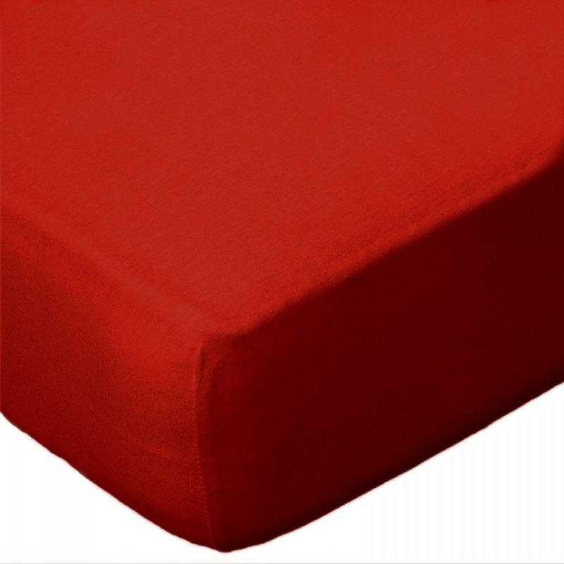 Prześcieradło jersey 80x160x15 z gumką wz. D029 (czerwony)