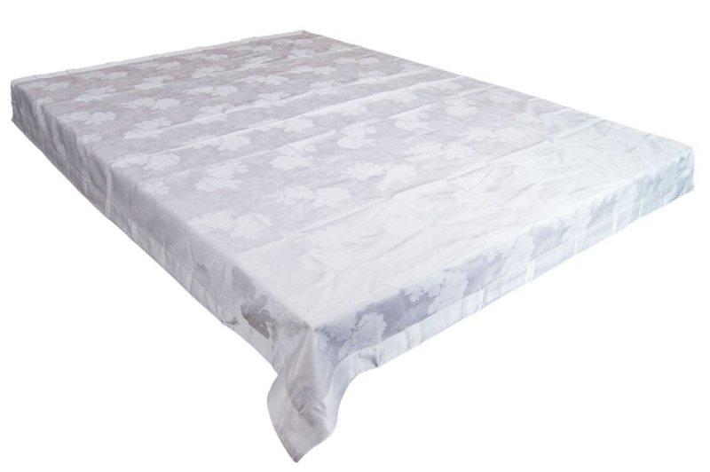 Obrus teflonowy rozmiar 140x180 wzór biały (239)