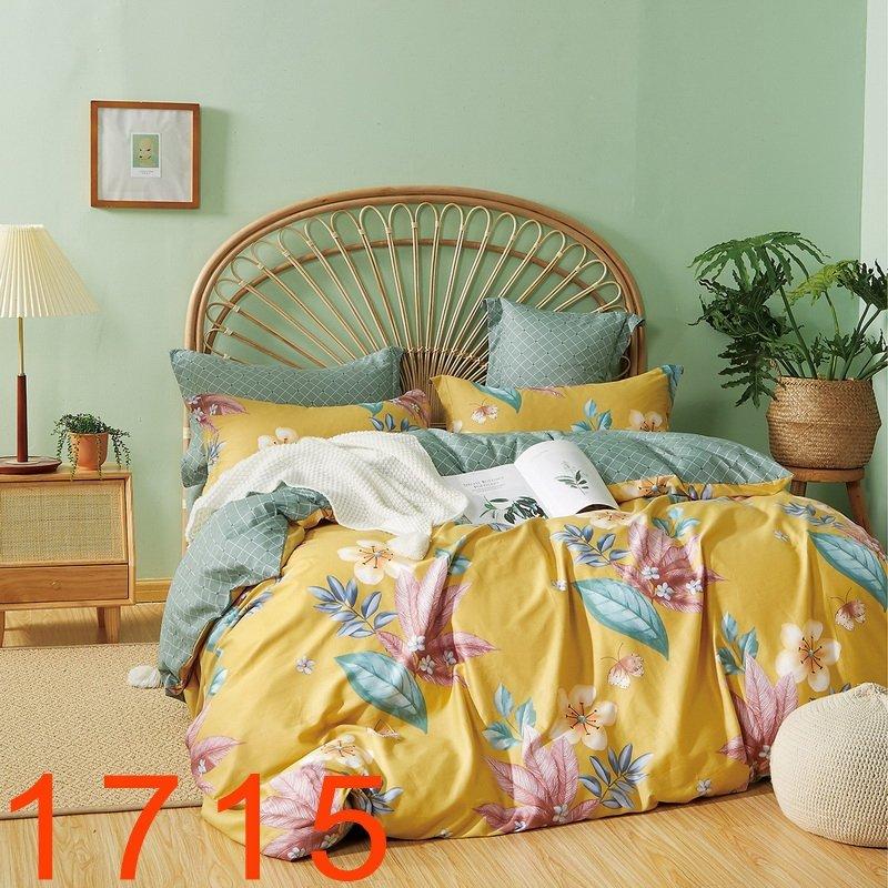 Pościel dwustronna bawełna satynowa 160x200 lub 140x200 z prześcieradłem 180x230 - wz. 1715