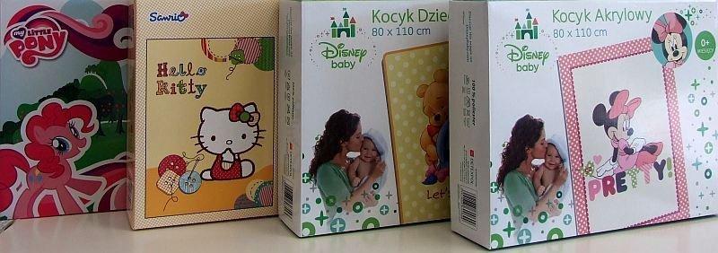 Koc Disney rozmiar 80x100 w pudełku wz. Kucyki Ponny
