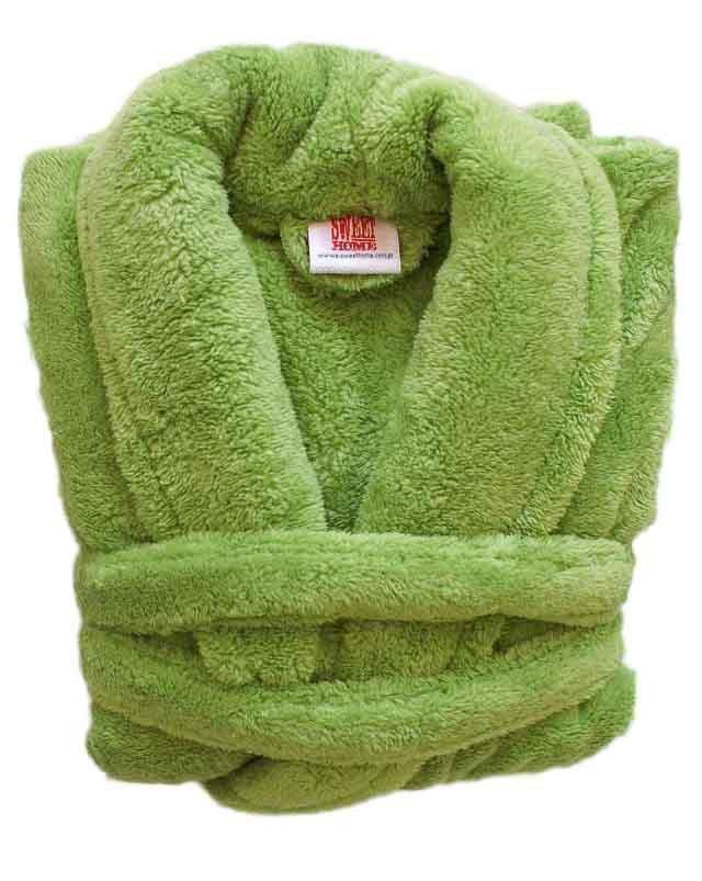 Szlafrok Wellsoft rozmiar S kolor - zielony