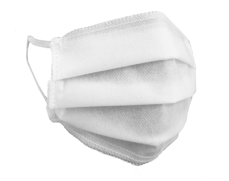 Maska ochronna 3-warstwowa z włókniny - wielorazowa 60°C BIAŁA