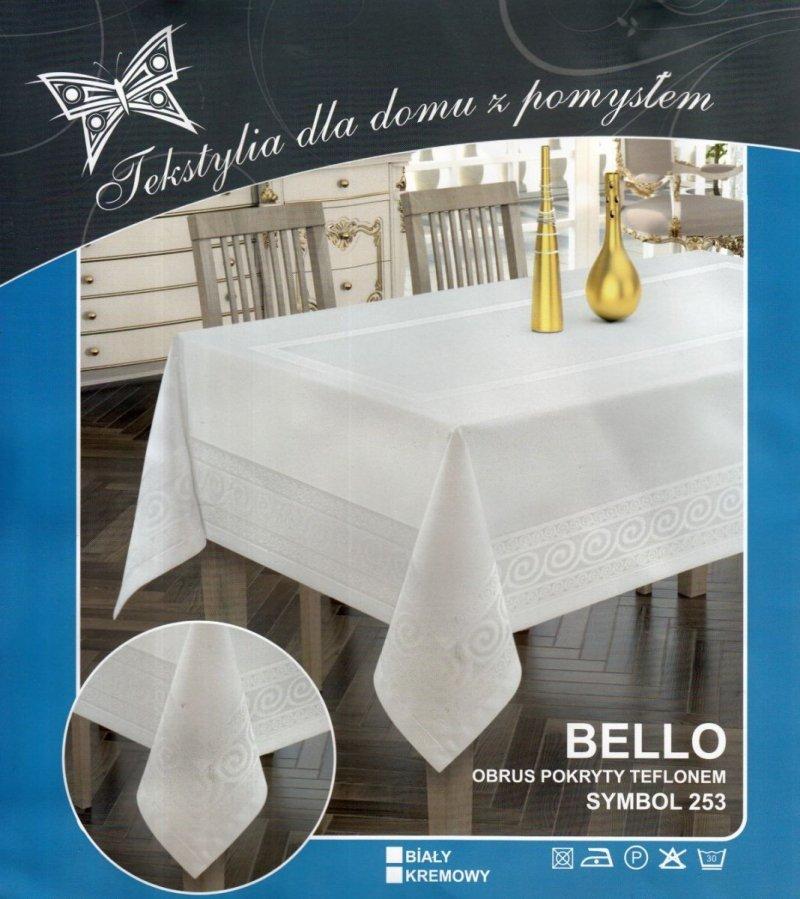 Obrus teflonowy bello rozmiar 140x240 wzór biały (253)