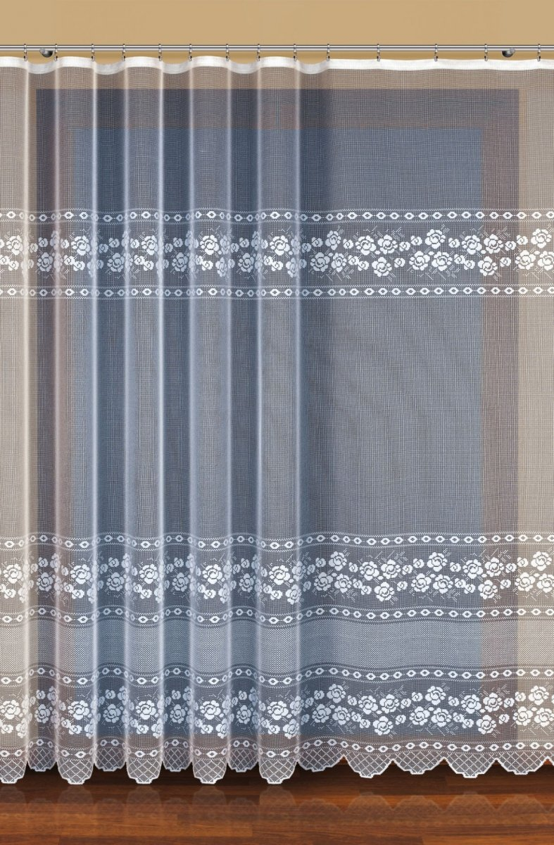 Firana żakardowa kolor kremowy (h max. 1,60m) wz. 32464