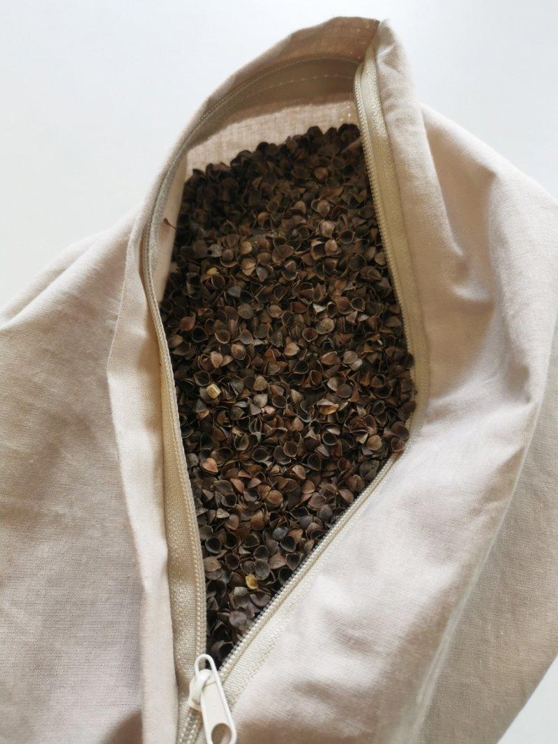 Poduszka z łuską gryki 40x40