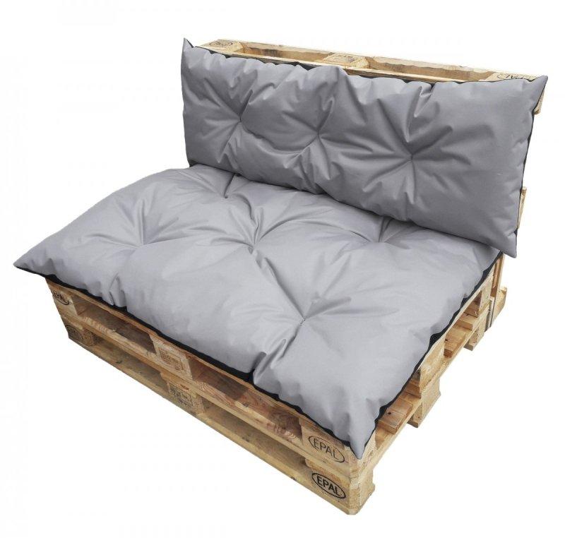 Komplet poduszek ogrodowych na palety 120x80 + 120x40 wz. Szary